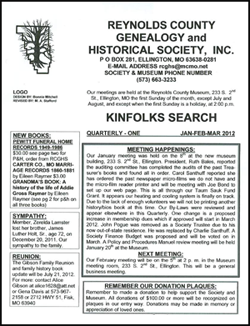 Kinsfolk Newsletter